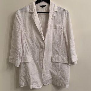 Jackets & Blazers - White Linen Blazer